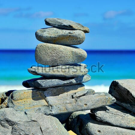 stack of stones on a beach Stock photo © nito
