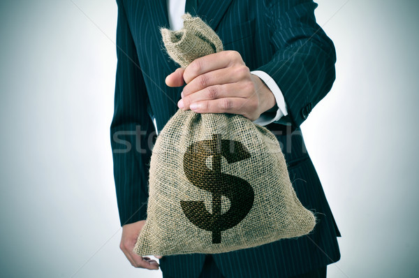businessman with a burlap money bag Stock photo © nito