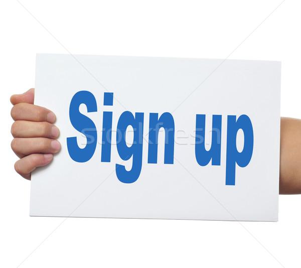 sign up Stock photo © nito