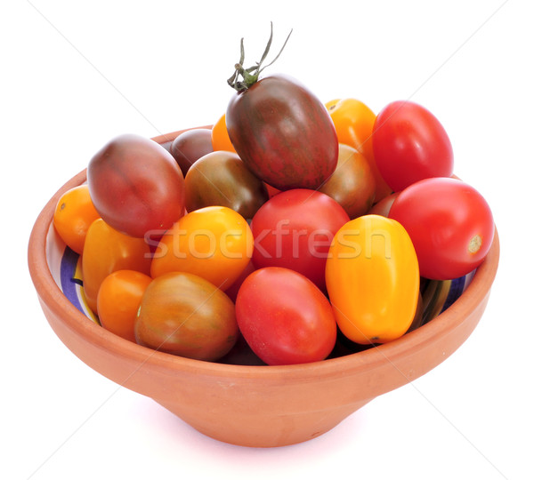 baby plum tomatoes of different colors Stock photo © nito
