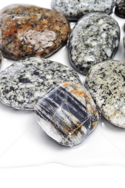 wet mottled stones Stock photo © nito