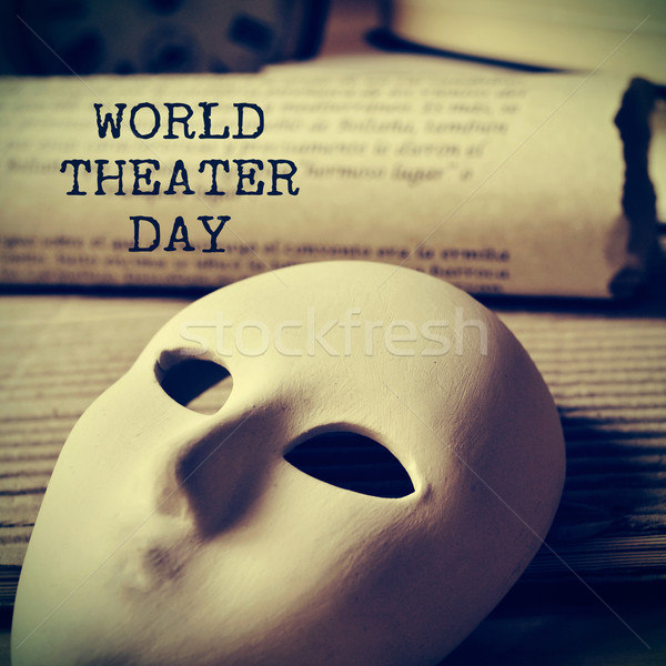 world theater day, with a retro effect Stock photo © nito