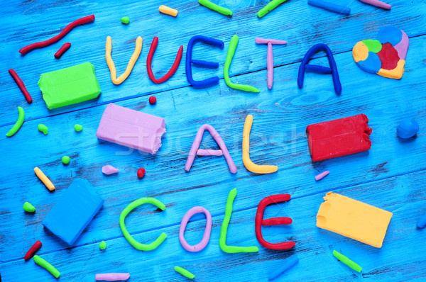 vuelta al cole, back to school written in spanish Stock photo © nito