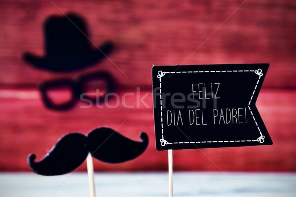 text feliz dia del padre, happy fathers day in spanish Stock photo © nito
