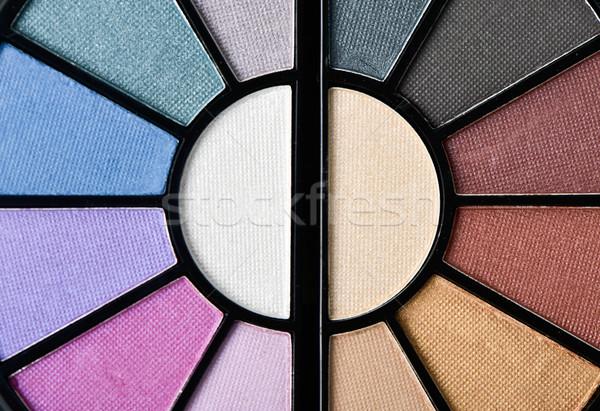 Ojo sombra paleta primer plano oscuridad diferente Foto stock © nito