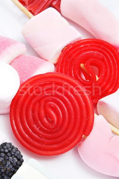ストックフォト: 白 · 背景 · 赤 · 食べ