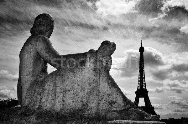 Stock photo: the Eiffel Tower in Paris, France