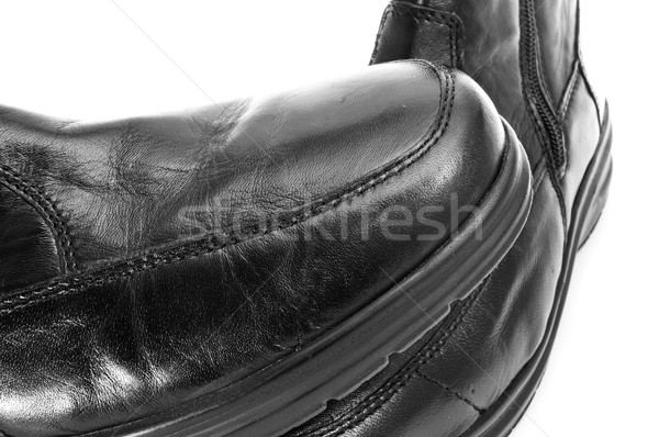black leather boots Stock photo © nito