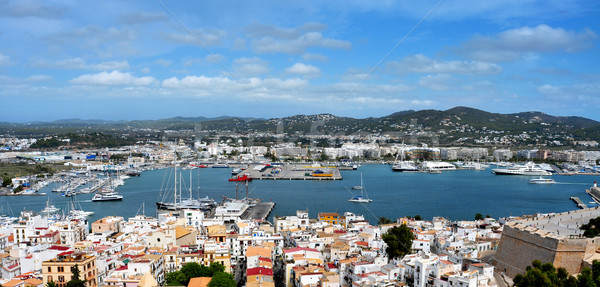 old town and port of Ibiza Town, Balearic Islands, Spain Stock photo © nito