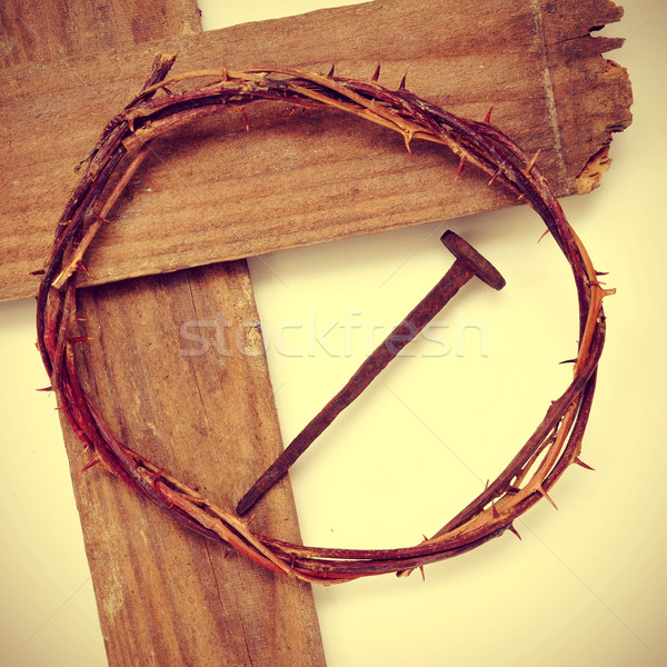 the Jesus Christ crown of thorns and the Holy Cross Stock photo © nito