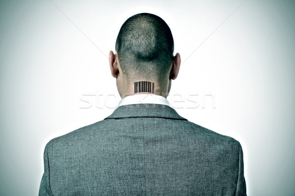 businessman with a barcode in his nape Stock photo © nito
