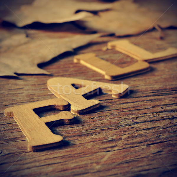 Vallen houten brieven woord verweerde Stockfoto © nito