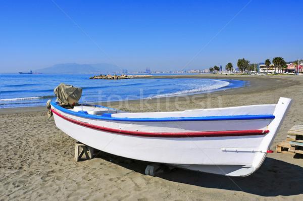 Pedregalejo Beach in Malaga, Spain Stock photo © nito