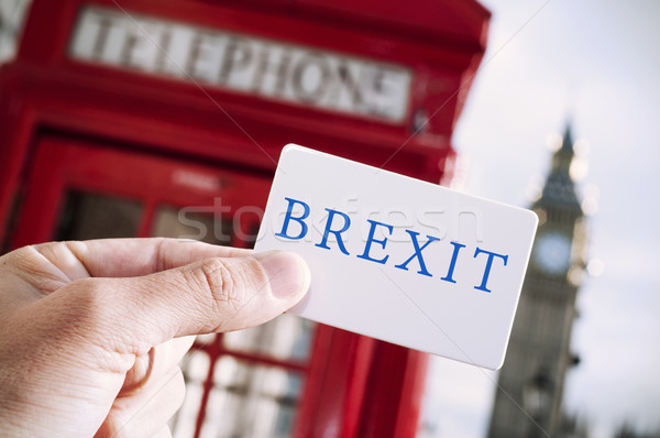 red telephone booth and text Brexit Stock photo © nito