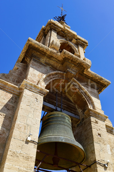 belfry of the bell tower of the Cathedral, in Valencia, Spain Stock photo © nito