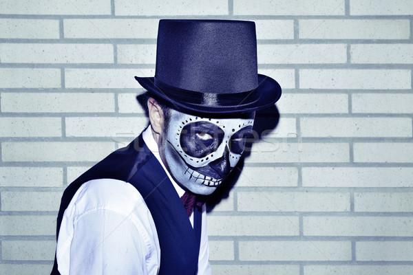 Man Mexicaanse make portret vest Stockfoto © nito