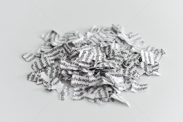 document broken into a thousand pieces Stock photo © nito