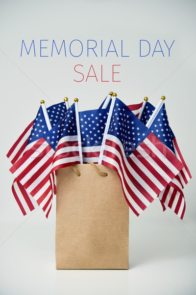 text memorial day sale and american flags Stock photo © nito