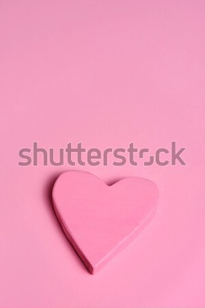 pink heart on a pink background Stock photo © nito