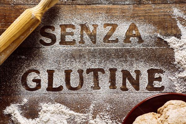Texto sem glúten escrito italiano ver Foto stock © nito