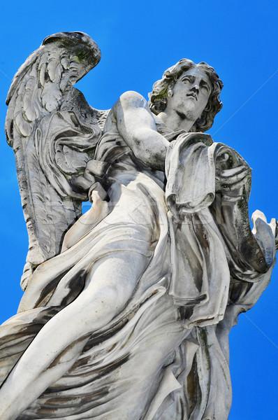 Standbeeld engel kledingstuk dobbelstenen brug Rome Stockfoto © nito
