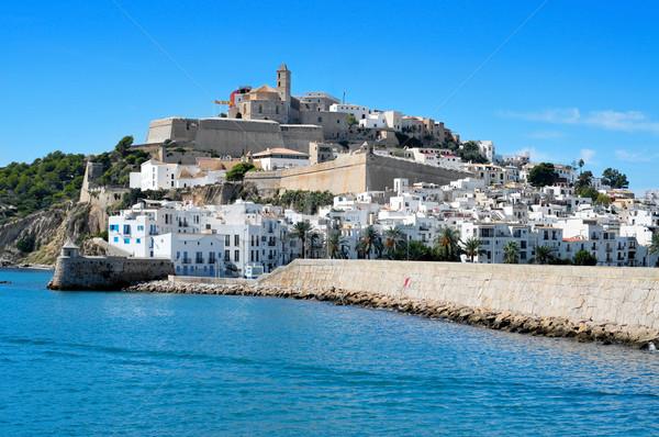 Sa Penya and Dalt Vila districts in Ibiza Town, Balearic Islands Stock photo © nito