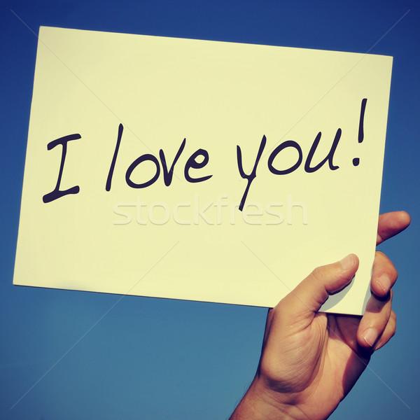 I love you Stock photo © nito