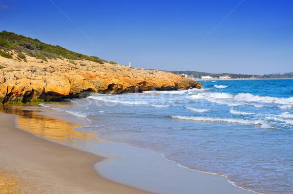 Cala Romana beach in Tarragona, Spain Stock photo © nito