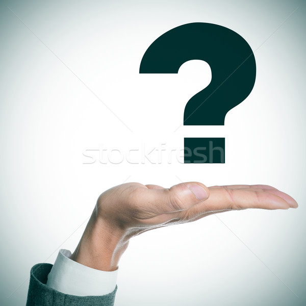 man hand and question mark Stock photo © nito