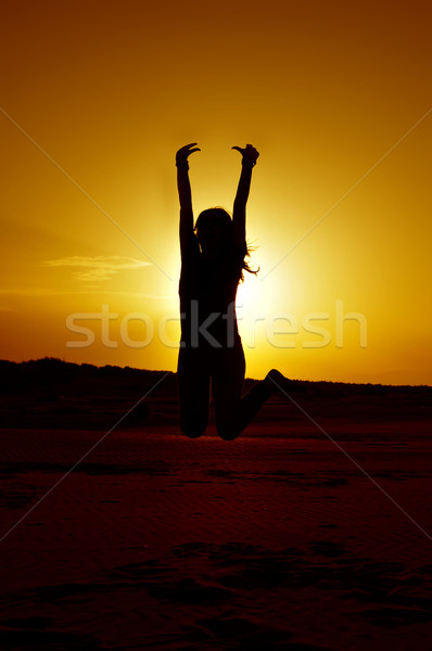young woman jumping Stock photo © nito