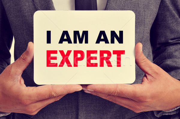 I am an expert Stock photo © nito