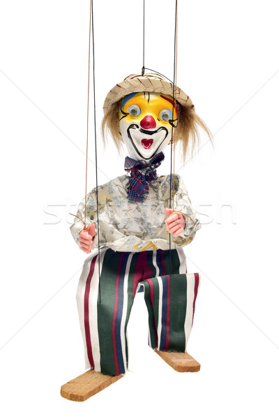 old marionette on a white background Stock photo © nito
