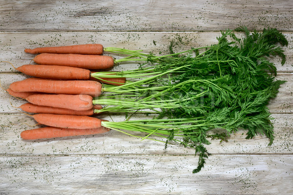 raw carrots on a rustic white table Stock photo © nito