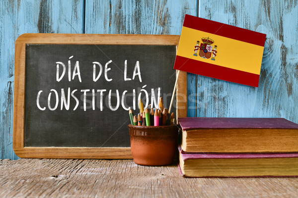text constitution day written in spanish Stock photo © nito