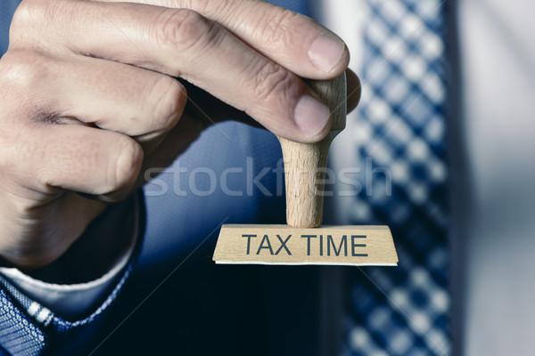 Férfi szöveg adó idő közelkép fiatal Stock fotó © nito
