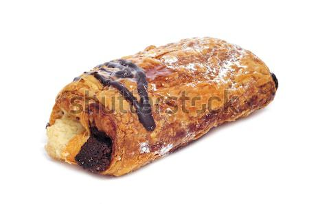 Pijn chocolade vla witte achtergrond ontbijt Stockfoto © nito