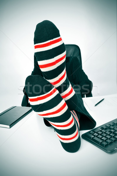 businessman relaxing in the office Stock photo © nito