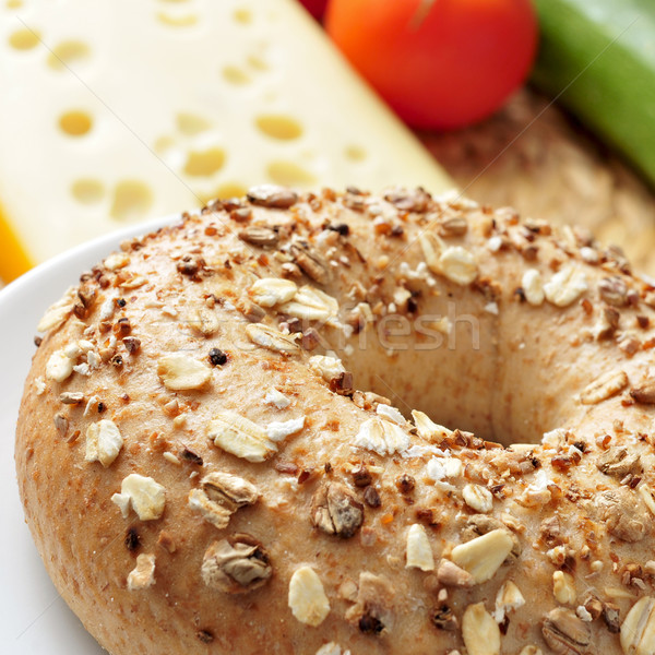 seed brown bagel Stock photo © nito