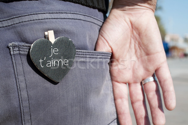 je t aime, I love you in french Stock photo © nito