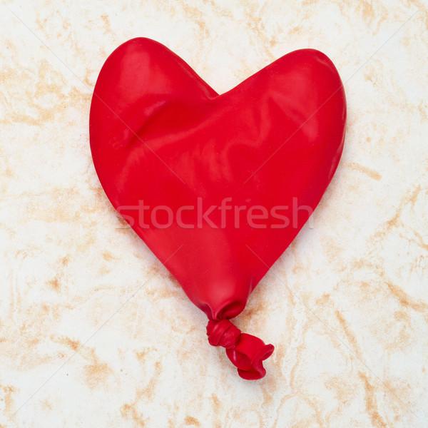 Globo espacio tarjeta mármol romance celebración Foto stock © nito