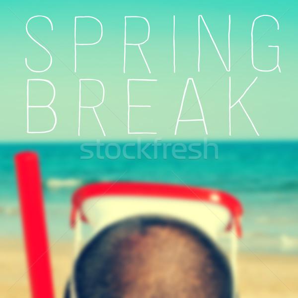Tavaszi szünet szöveg írott elmosódott kép férfi Stock fotó © nito