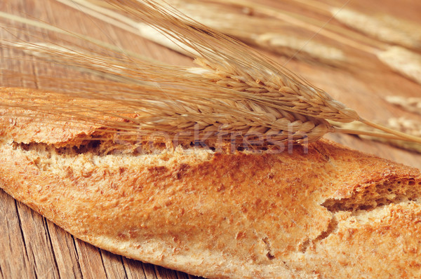 whole wheat baguette Stock photo © nito