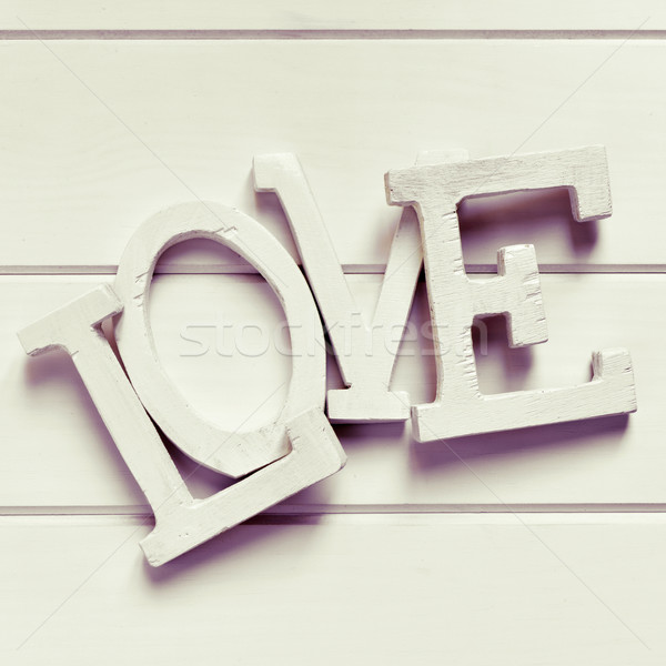 three-dimensional letters forming the word love, filtered Stock photo © nito