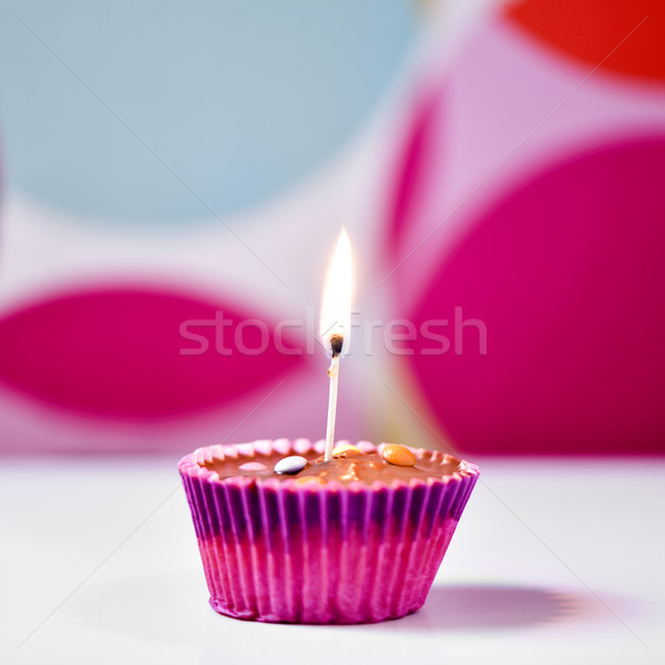cupcake topped with a lighted match  Stock photo © nito