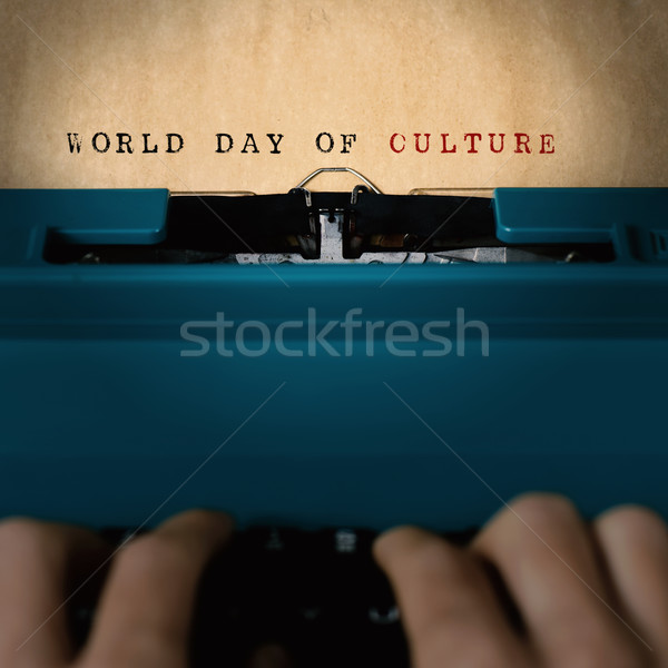 text world day of culture typewritten Stock photo © nito