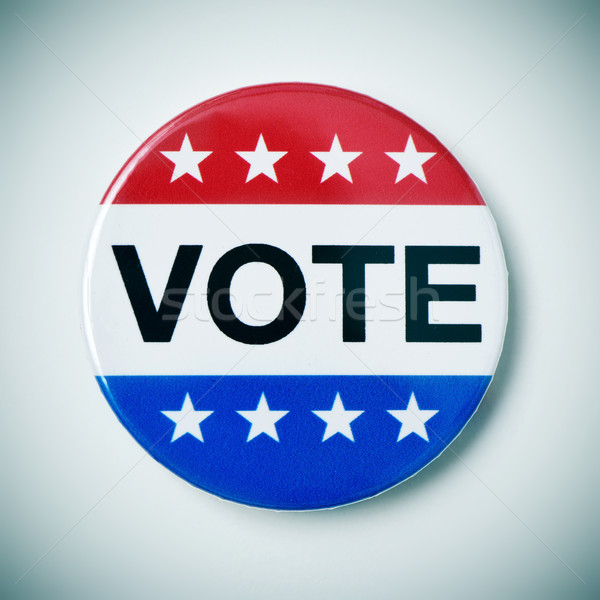vote badge for the United States election Stock photo © nito