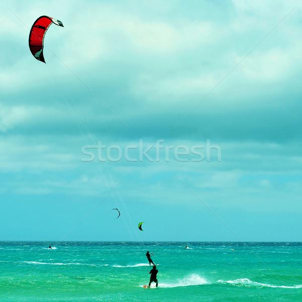 Sotavento Beach in Fuerteventura, Canary Islands, Spain Stock photo © nito