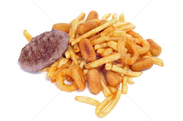 Tuczący żywności biały Zdjęcia stock © nito
