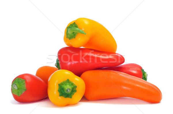 Doce morder pimentas diferente cores laranja Foto stock © nito