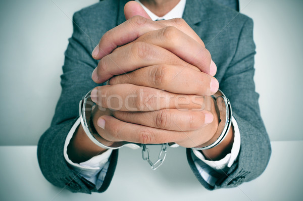 handcuffed man Stock photo © nito